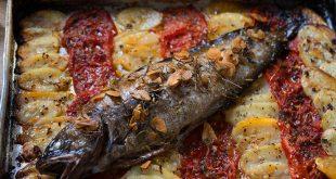 صينية السمك في الفرن واو جداا طعمه روعة حياكم مع ابداع تونه
