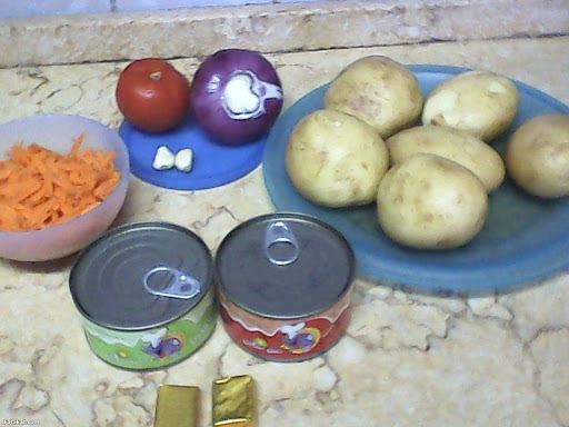 كيفية صينية البطاطس بالتونه البشرتي للاخوات الي طلبوه