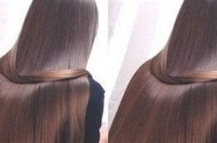 صورة شعر حرير ناعم يلمع وربي من تجربتي ان ,تبغين شعر ناعم متل الحرير تعالى اقولك كيف 621 1 310x205